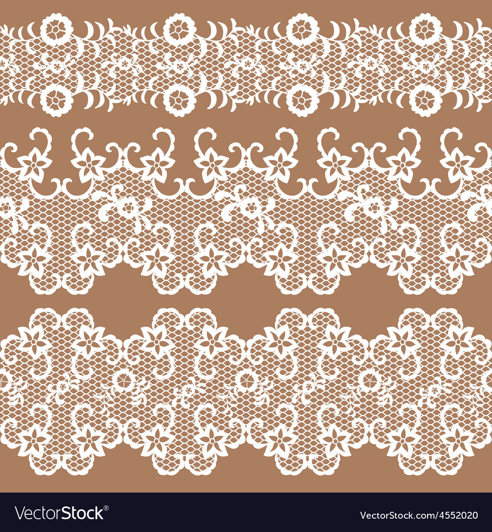 Set of beautiful lace trims vector | Price: 1 Credit (USD $1)