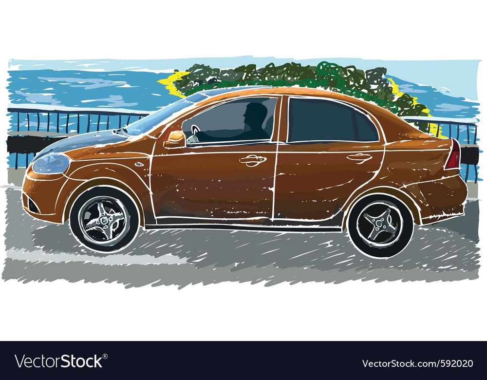 Stylized sedan vector | Price: 1 Credit (USD $1)