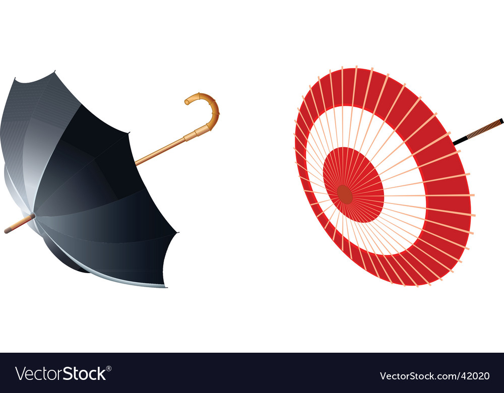 Two type of umbrellas vector | Price: 1 Credit (USD $1)