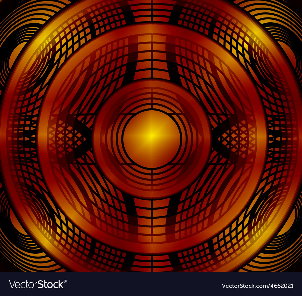 Abstract red circle background vector | Price: 1 Credit (USD $1)