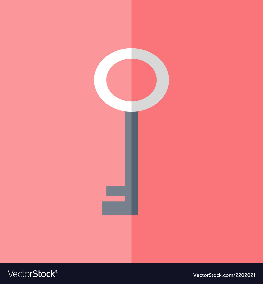 Flat white blue key icon over pink vector | Price: 1 Credit (USD $1)