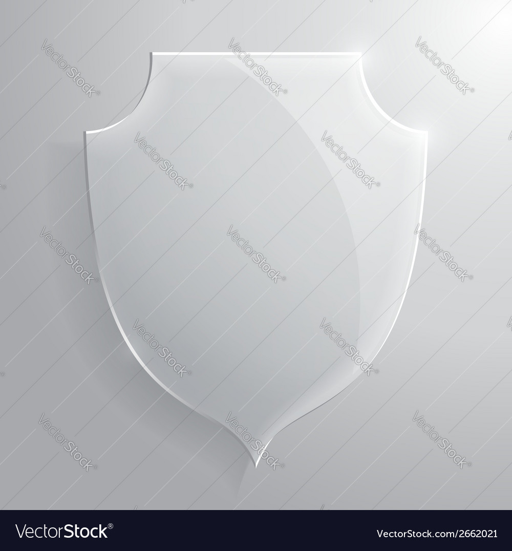 Glass transparent shield vector | Price: 1 Credit (USD $1)