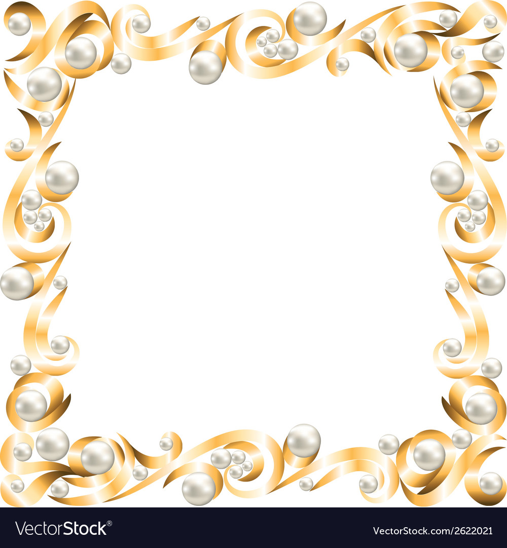Golden jewelry frame vector | Price: 1 Credit (USD $1)