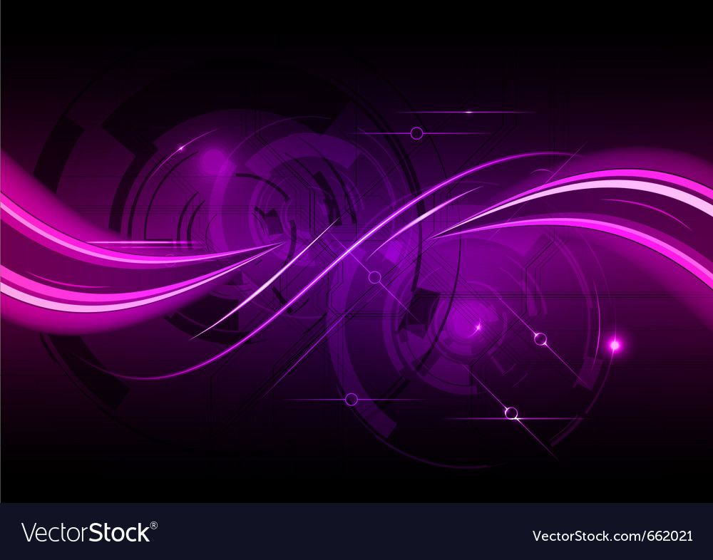 Purple abstract background with wave vector | Price: 1 Credit (USD $1)