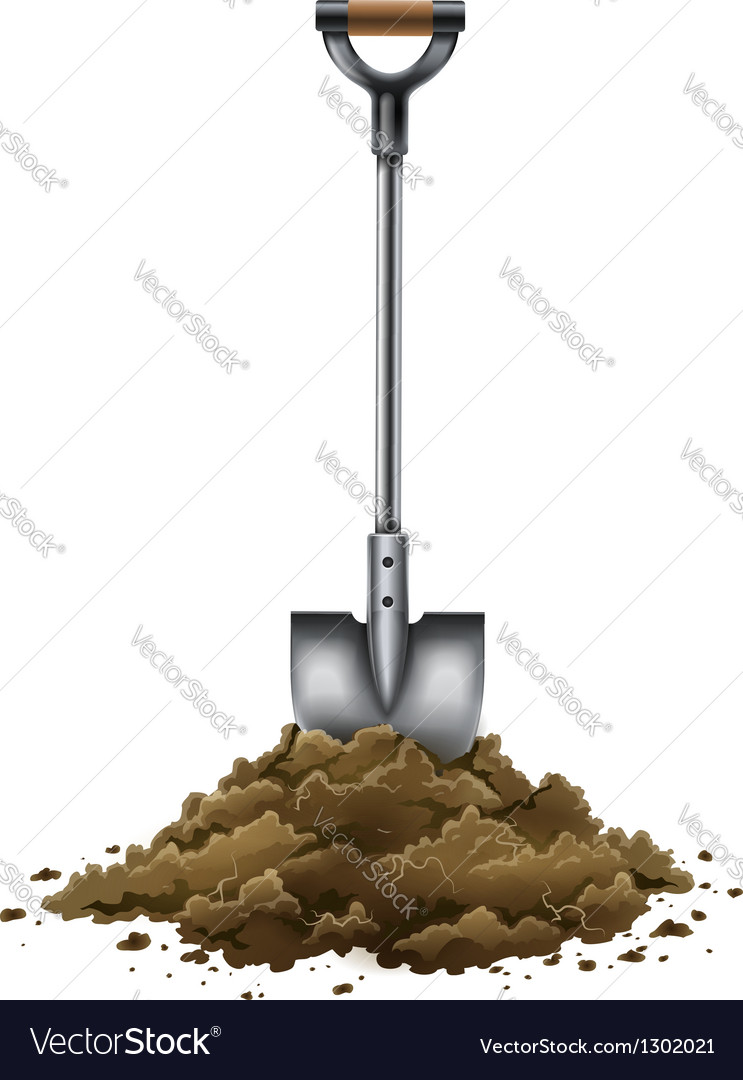 Shovel tool for gardening vector