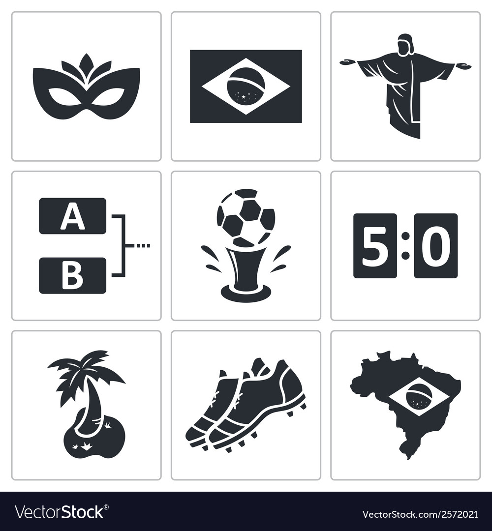 Soccer icon collection vector | Price: 1 Credit (USD $1)