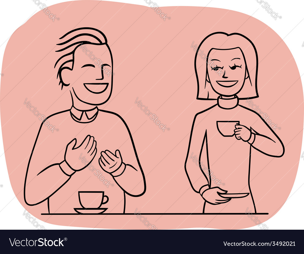 Tea-table talk vector | Price: 1 Credit (USD $1)