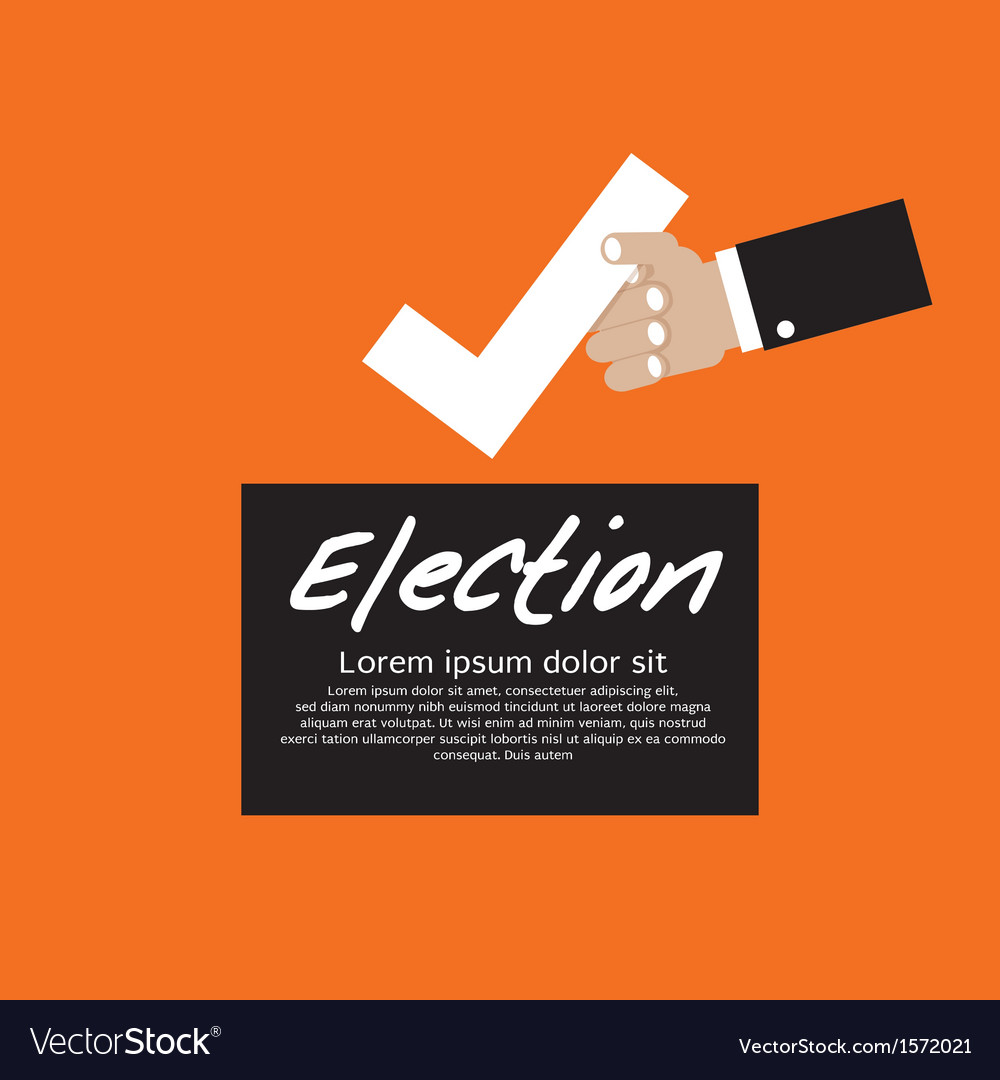 Vote for election concept eps1 vector | Price: 1 Credit (USD $1)