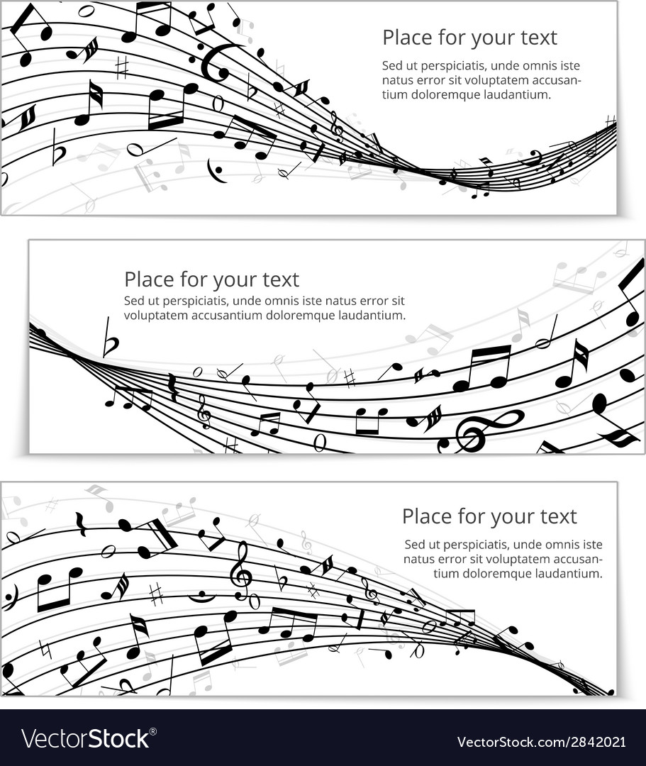 Wavy music banners vector | Price: 1 Credit (USD $1)