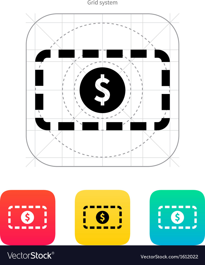 Banknote icon vector | Price: 1 Credit (USD $1)