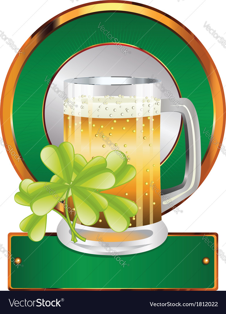 Beer and clover vector | Price: 1 Credit (USD $1)