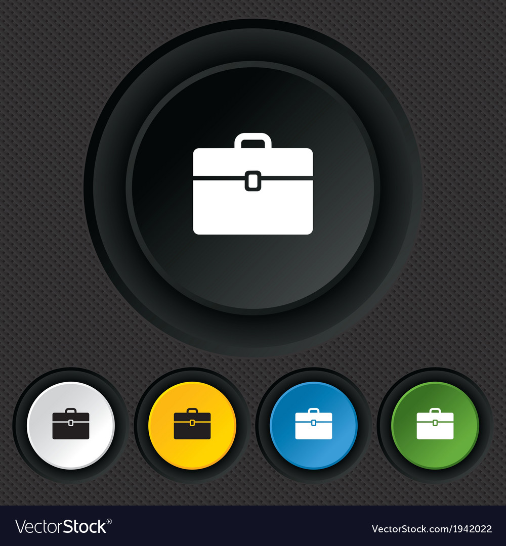 Case sign icon briefcase button vector | Price: 1 Credit (USD $1)