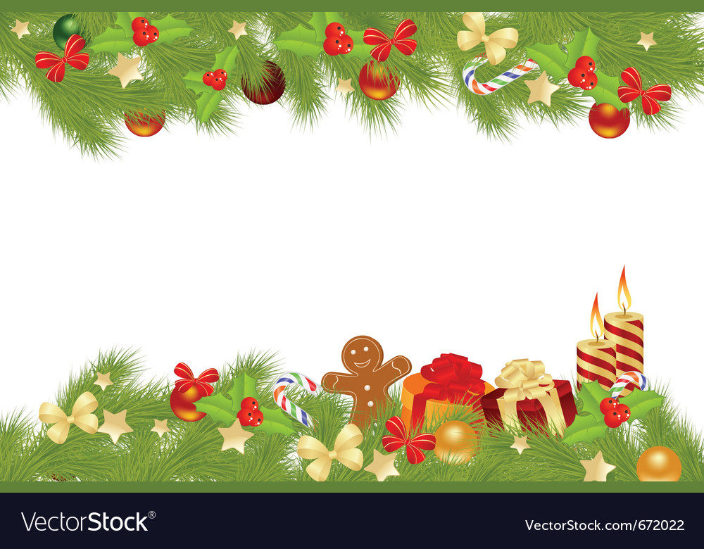 Christmas card background with decorations vector | Price: 1 Credit (USD $1)
