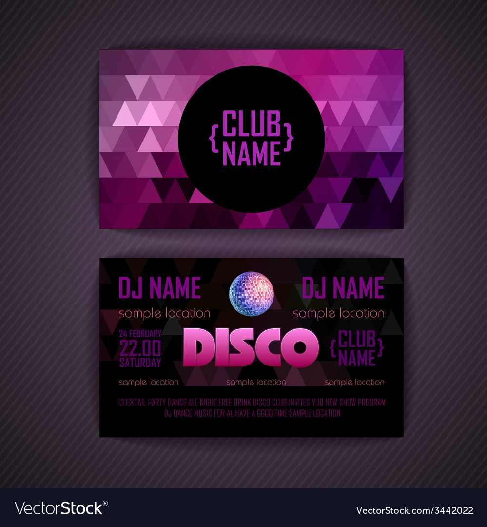 Disco geometric triangle background vector | Price: 1 Credit (USD $1)