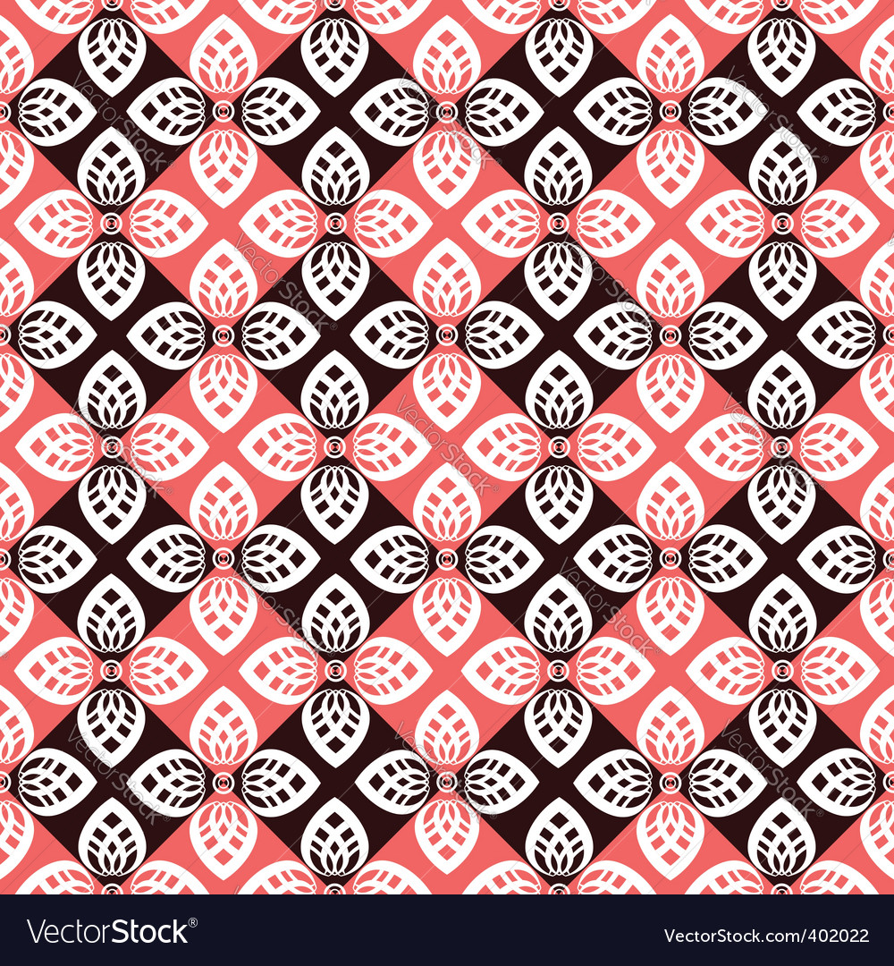 Floral checked pattern vector | Price: 1 Credit (USD $1)
