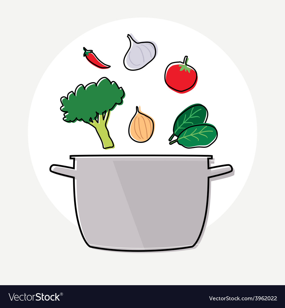 Food ingredient and pot vector | Price: 1 Credit (USD $1)