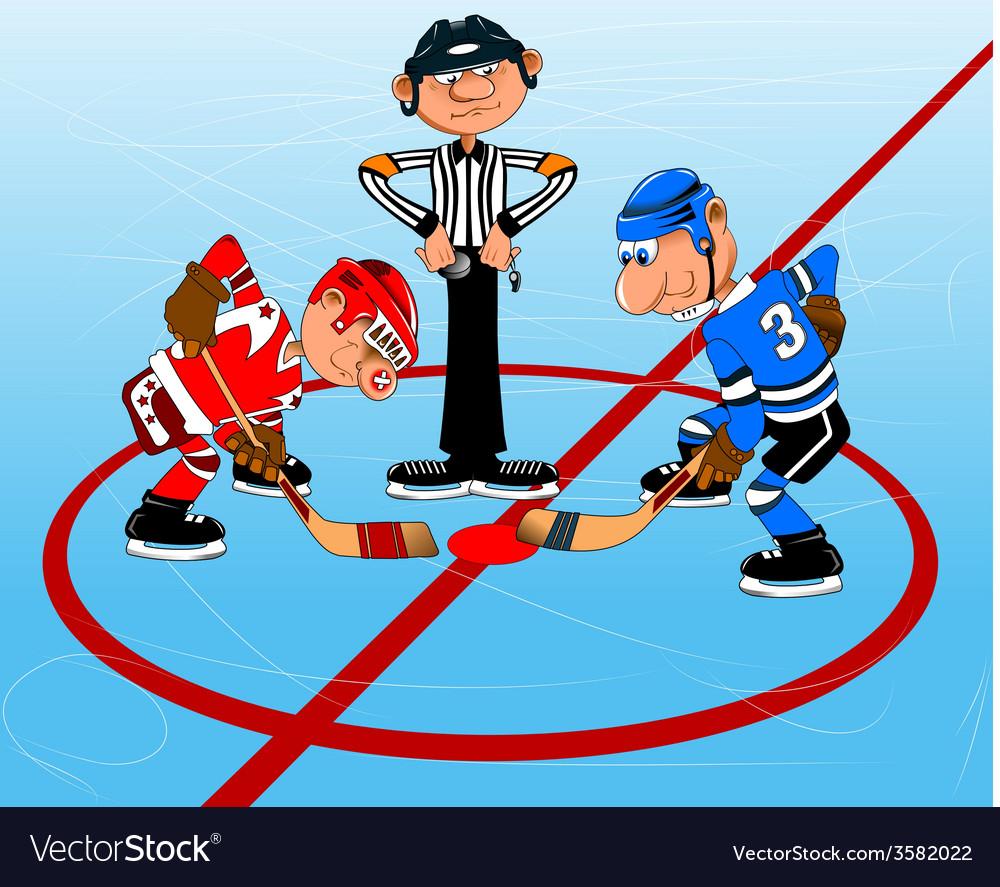 Ice hockey cartoon vector | Price: 1 Credit (USD $1)