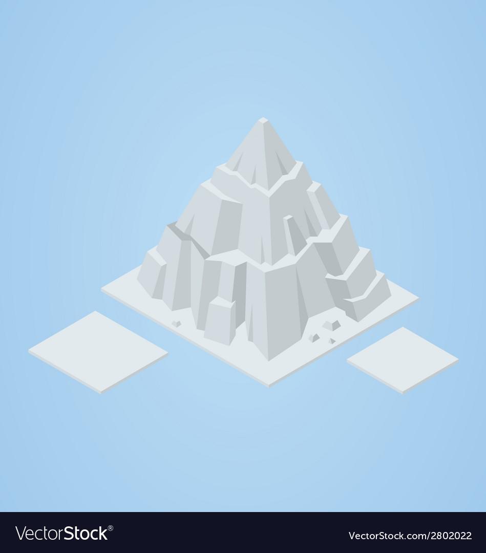 Isometric iceberg vector | Price: 1 Credit (USD $1)