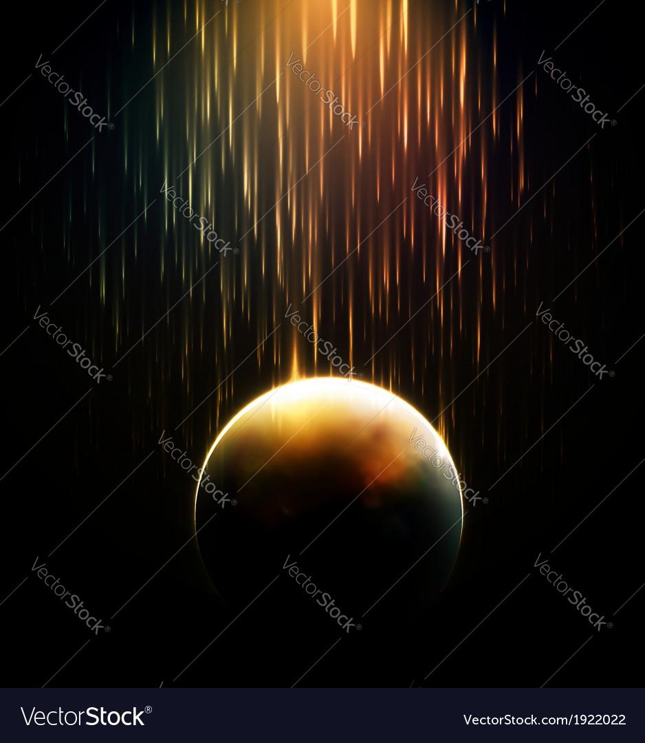 Meteor shower vector | Price: 1 Credit (USD $1)