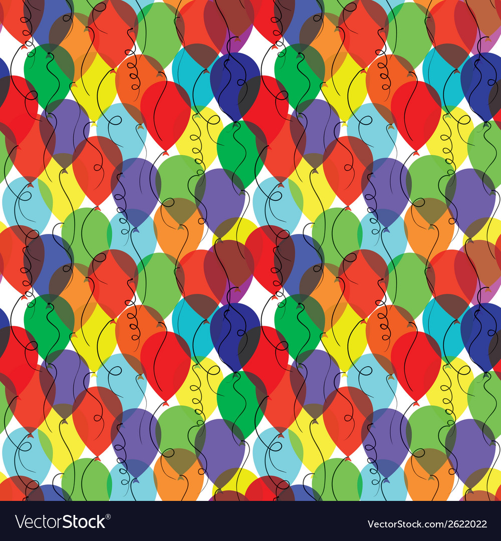 Seamless background with balloons vector | Price: 1 Credit (USD $1)