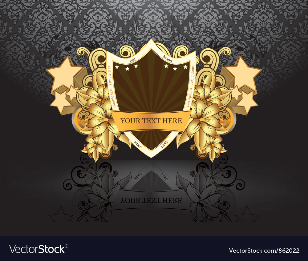 Vintage emblem with lion head vector | Price: 1 Credit (USD $1)