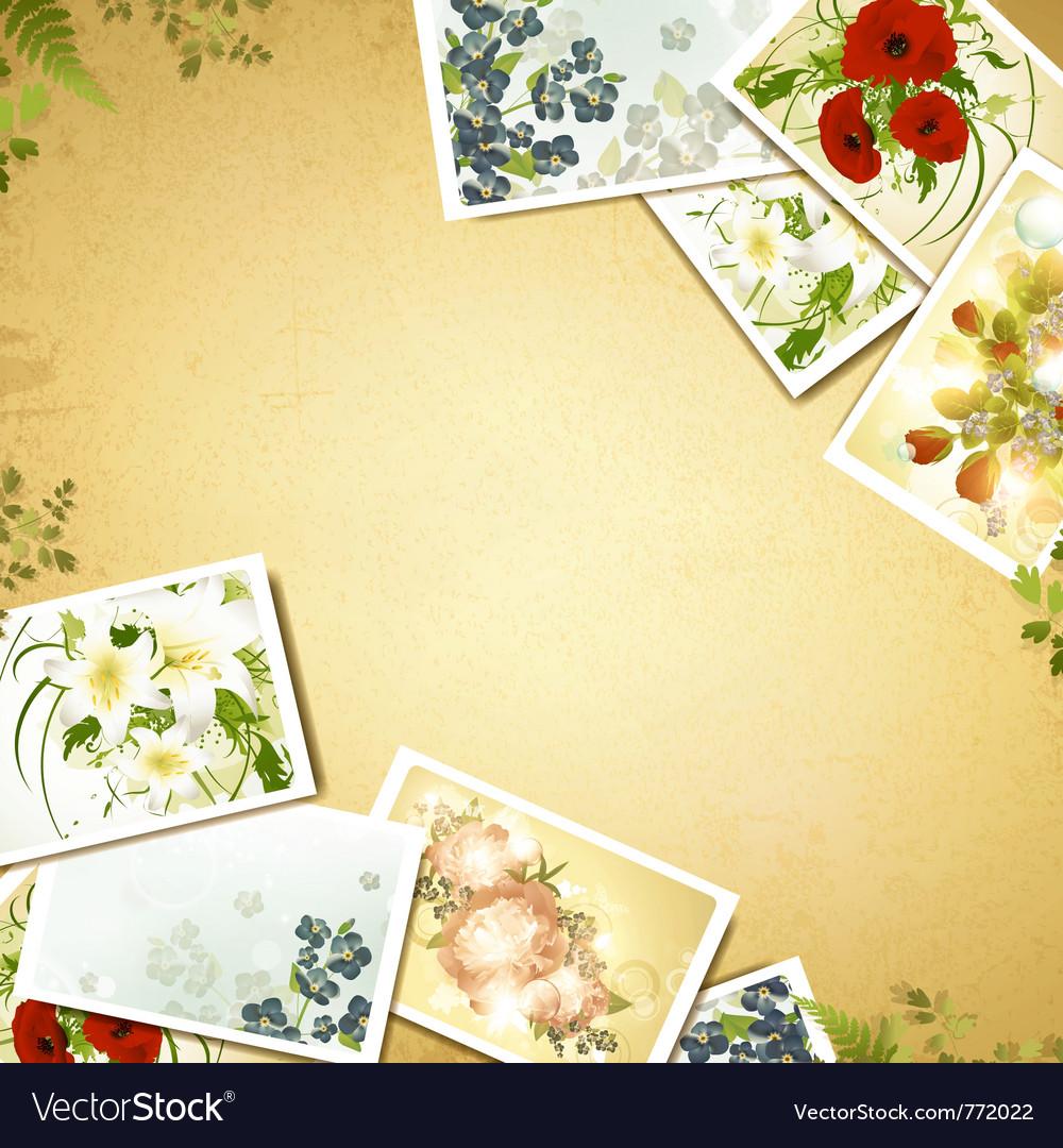Vintage floral background vector   Price: 3 Credit (USD $3)