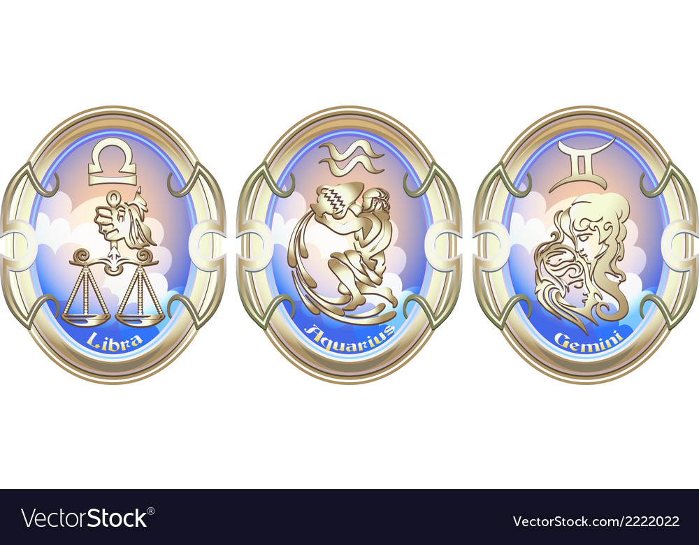 Zodiac signs of air vector   Price: 1 Credit (USD $1)