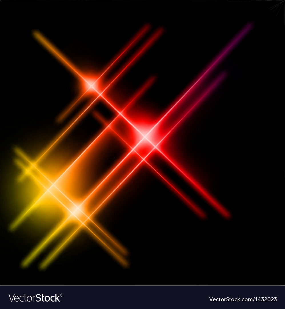Abstract yellow and red rays lights vector | Price: 1 Credit (USD $1)