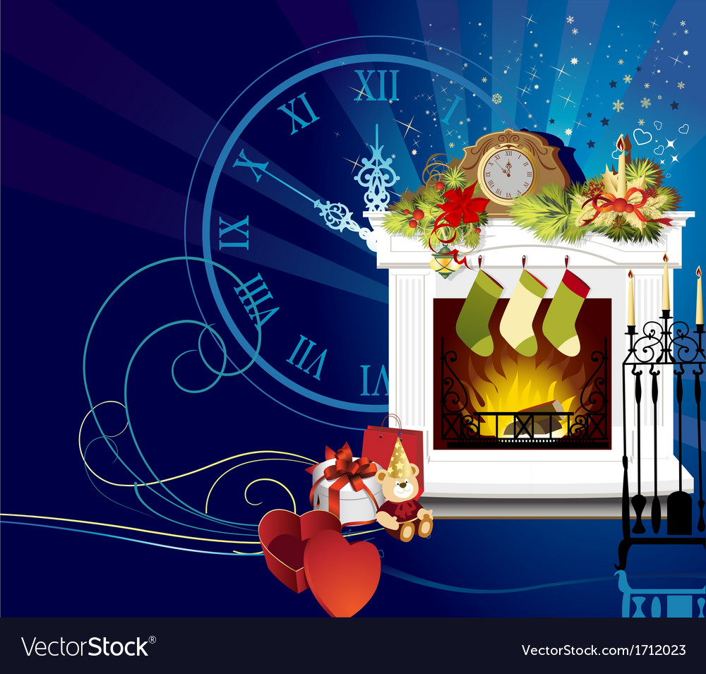 Christmas room vector | Price: 1 Credit (USD $1)