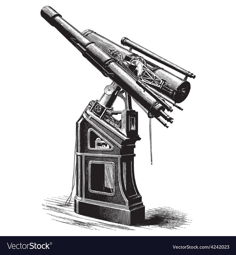 Equatorial telescope vector | Price: 3 Credit (USD $3)