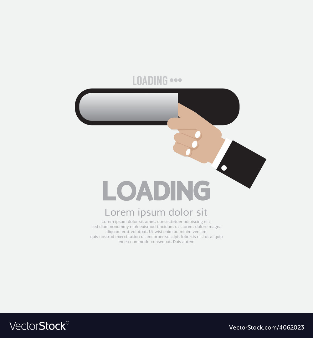 Hand with loading status vector | Price: 1 Credit (USD $1)