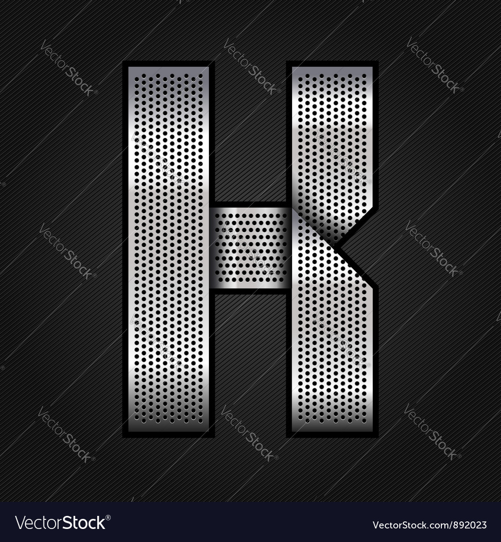 Letter metal chrome ribbon - k vector | Price: 1 Credit (USD $1)