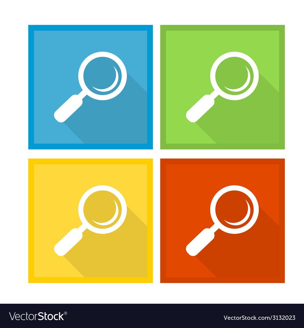 Magnifier glass and zoom icons vector | Price: 1 Credit (USD $1)