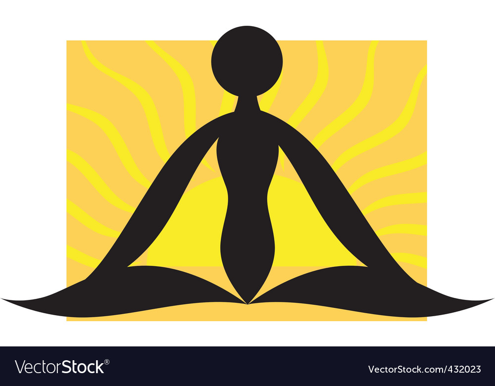 Man sitting in the exercise vector | Price: 1 Credit (USD $1)