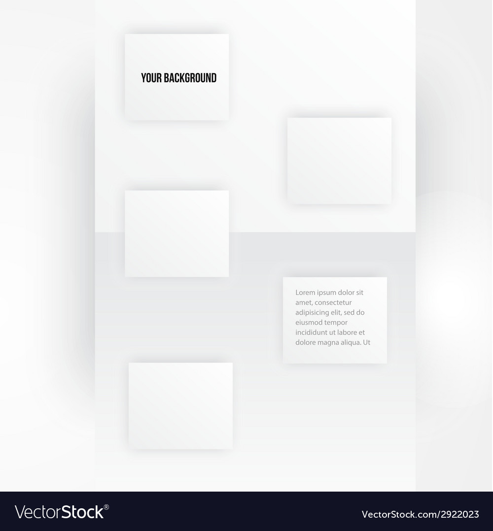 Paper template banner white note vector | Price: 1 Credit (USD $1)