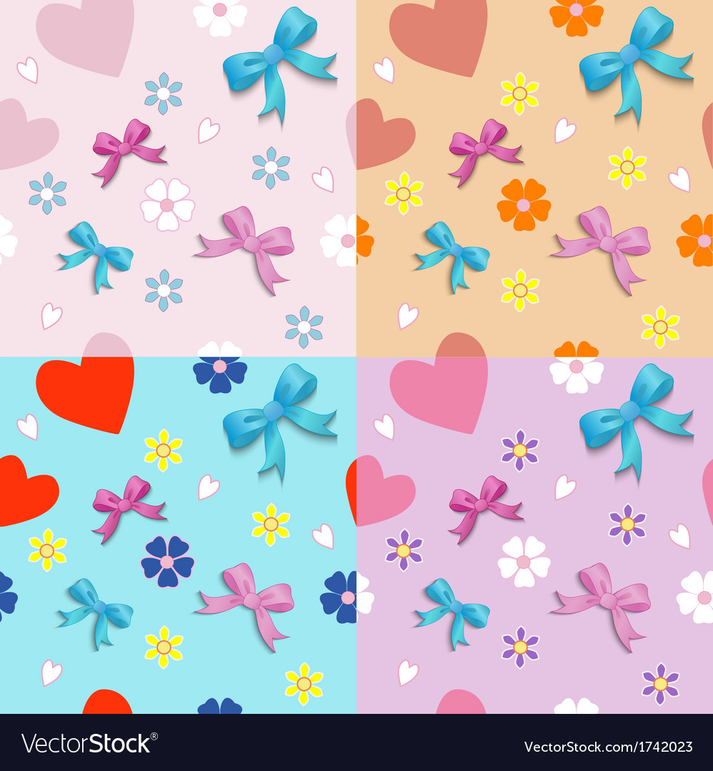 Seamless with bows vector | Price: 1 Credit (USD $1)