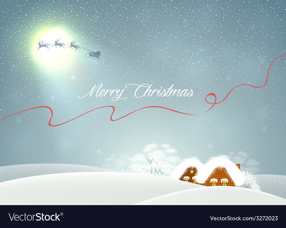 Winter landscape with houses vector   Price: 1 Credit (USD $1)