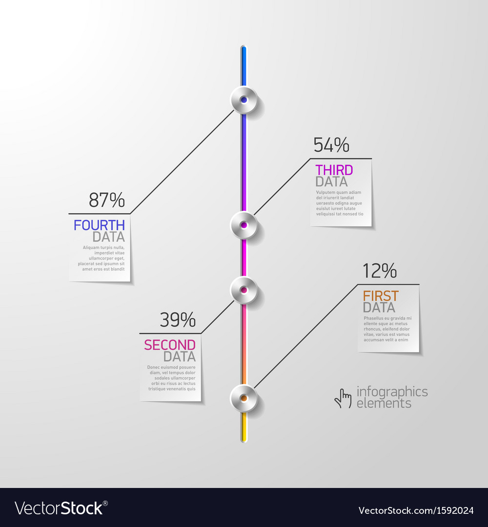 Abstract business infographics design element vector | Price: 1 Credit (USD $1)