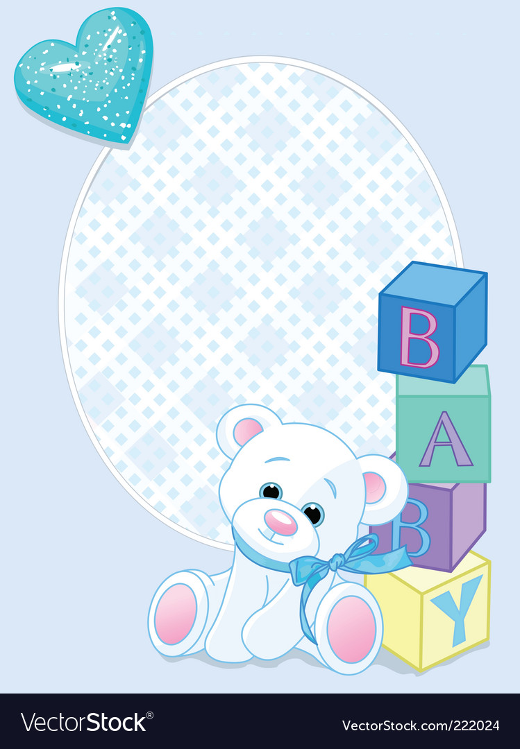 Baby blue arrival card vector | Price: 3 Credit (USD $3)