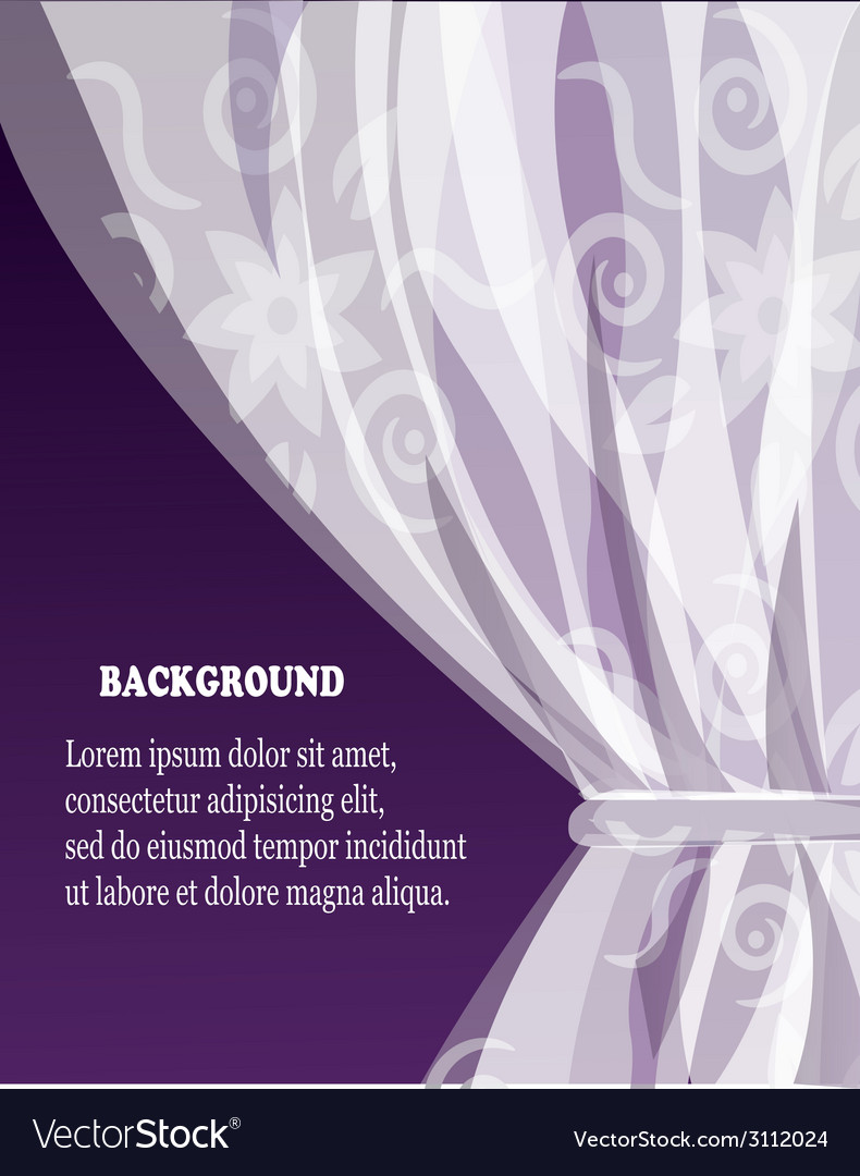 Background with curtain vector | Price: 1 Credit (USD $1)