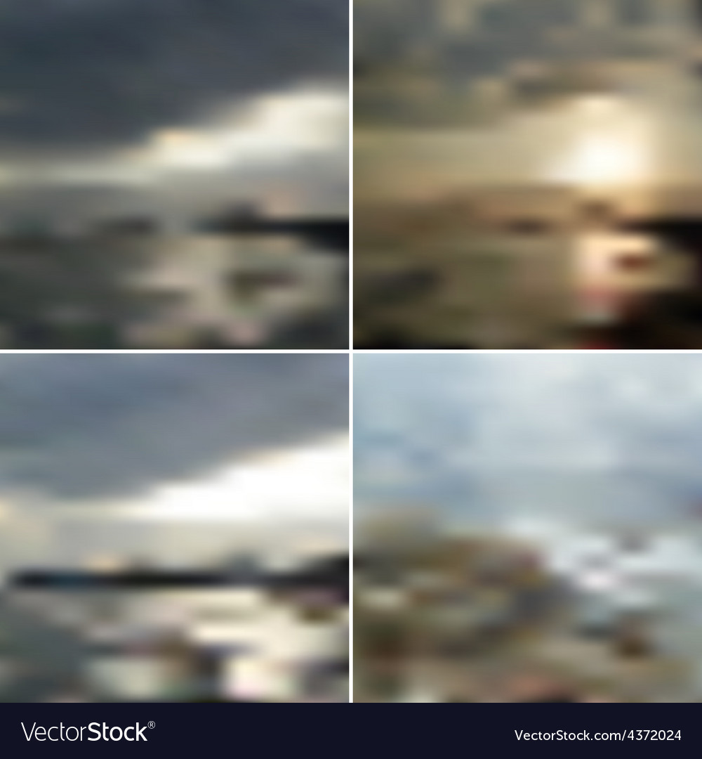 Blurred backgrounds with the sea sunset vector | Price: 1 Credit (USD $1)