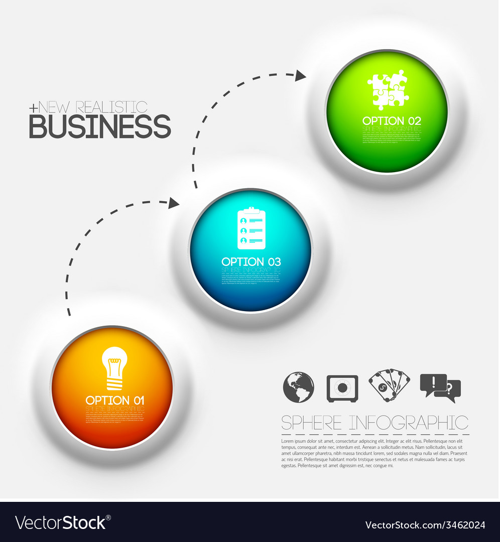 Business infographic design background concept vector | Price: 1 Credit (USD $1)