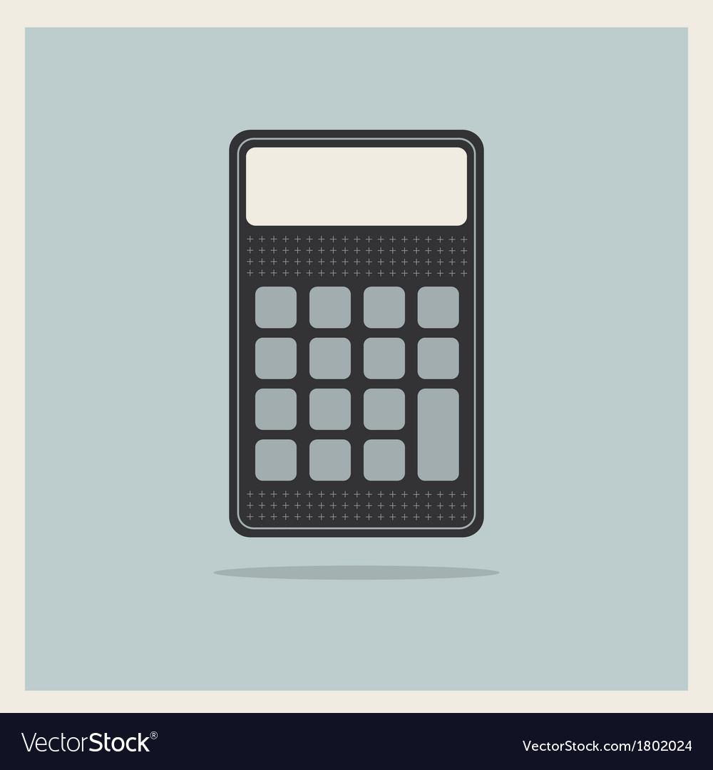 Classic finance accounting calculator vector | Price: 1 Credit (USD $1)