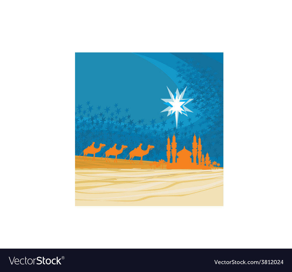 Classic three magic scene and shining star of vector | Price: 1 Credit (USD $1)