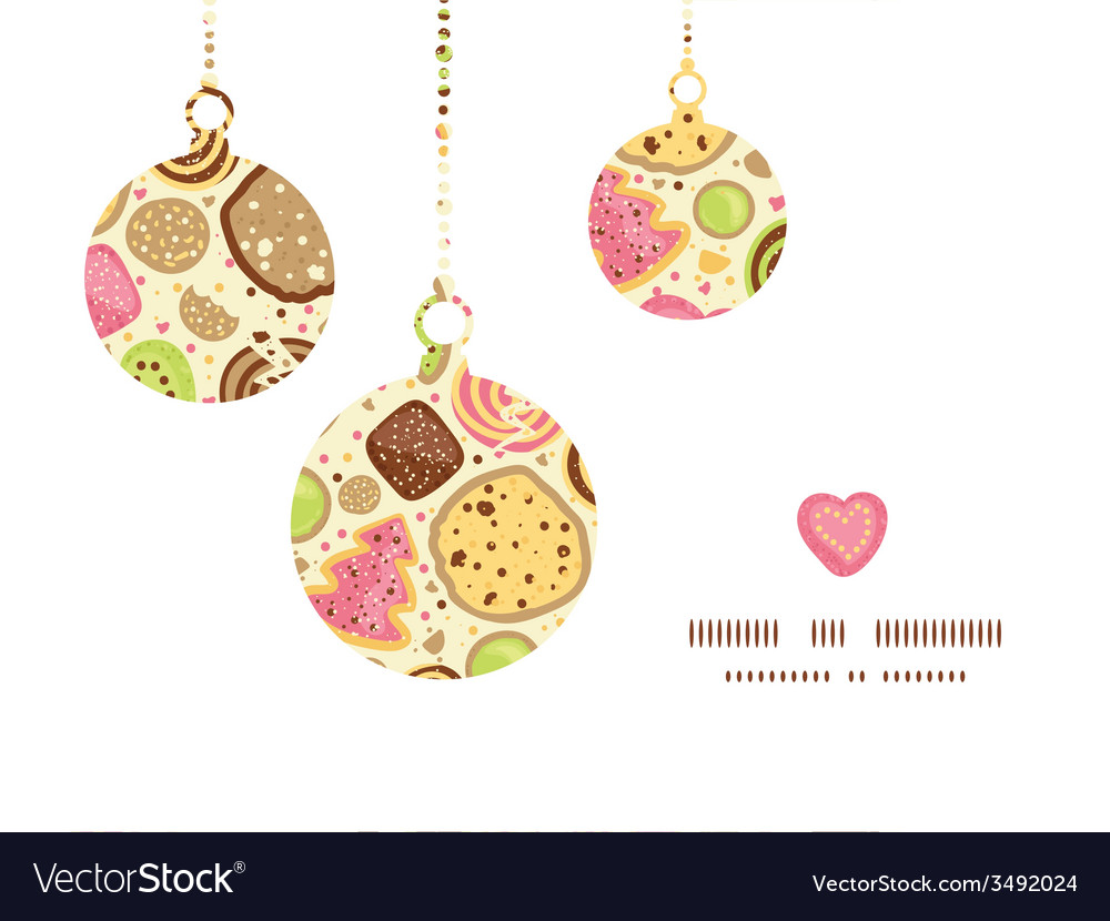 Colorful cookies christmas ornaments silhouettes vector | Price: 1 Credit (USD $1)