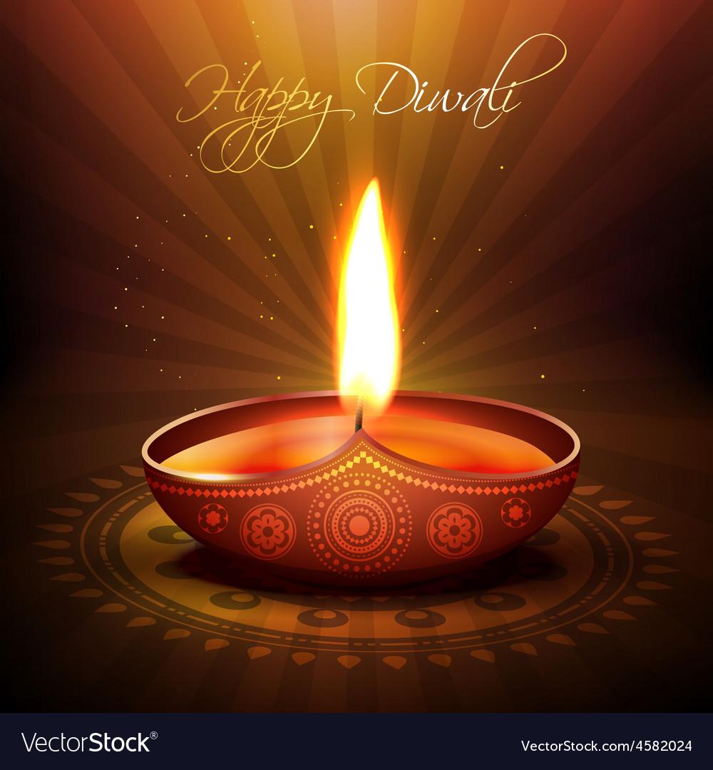 Diwali festival diya vector | Price: 1 Credit (USD $1)