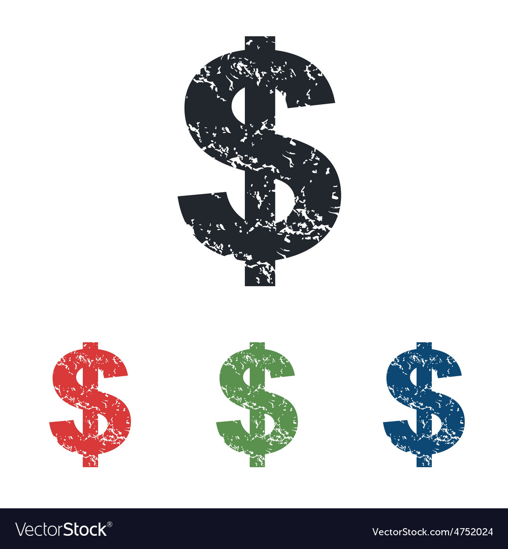 Dollar grunge icon set vector | Price: 1 Credit (USD $1)