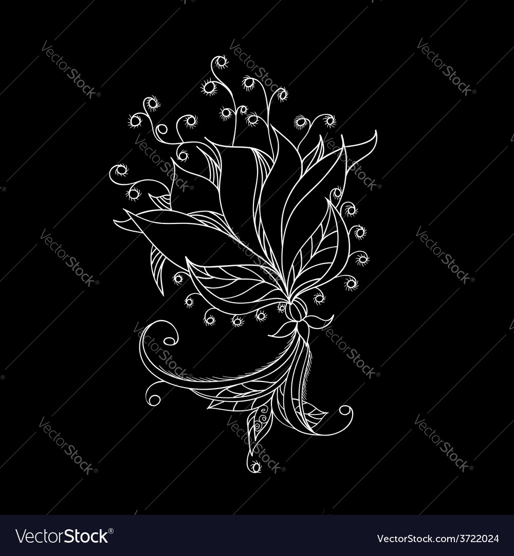 Floral pattern for your design vector | Price: 1 Credit (USD $1)