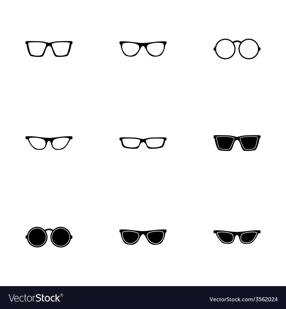 Glasses icon set vector   Price: 1 Credit (USD $1)