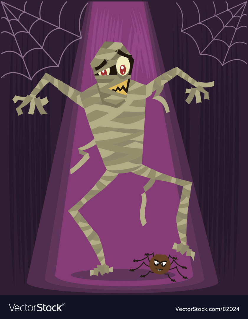 Mummy halloween vector | Price: 1 Credit (USD $1)
